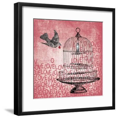 Love Birds-Erin Clark-Framed Giclee Print