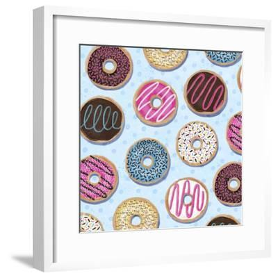 Tossed Painterly Donuts-Elizabeth Caldwell-Framed Giclee Print