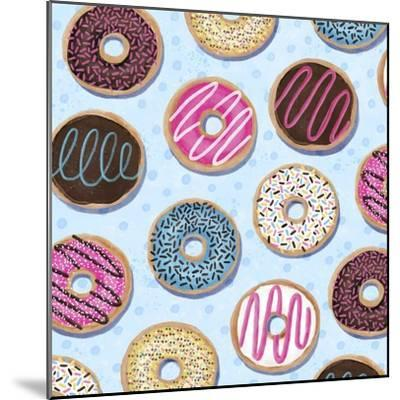 Tossed Painterly Donuts-Elizabeth Caldwell-Mounted Giclee Print