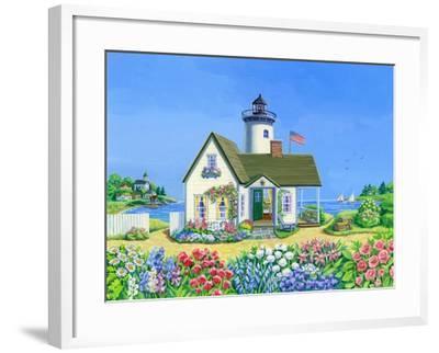 Lighthouse Cottage-Geraldine Aikman-Framed Giclee Print