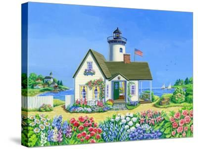 Lighthouse Cottage-Geraldine Aikman-Stretched Canvas Print