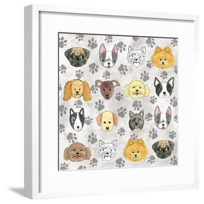 Painted Puppies-Elizabeth Caldwell-Framed Giclee Print