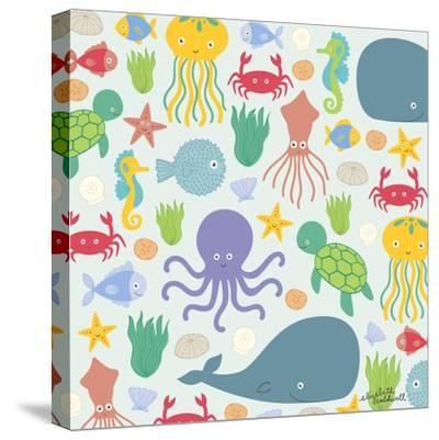 Sea Creatures-Elizabeth Caldwell-Stretched Canvas Print