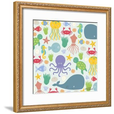 Sea Creatures-Elizabeth Caldwell-Framed Giclee Print
