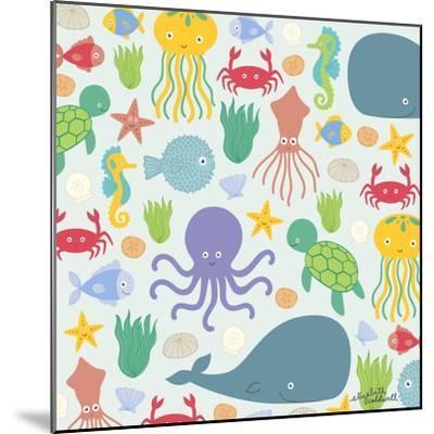 Sea Creatures-Elizabeth Caldwell-Mounted Giclee Print