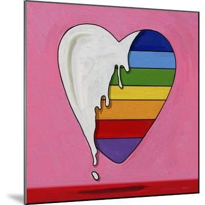 Pop Art Heart Drip-Howie Green-Mounted Giclee Print