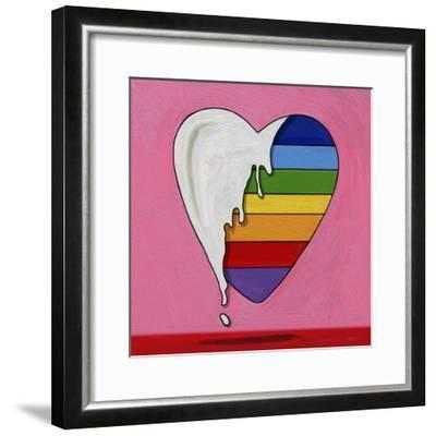 Pop Art Heart Drip-Howie Green-Framed Giclee Print