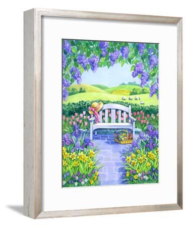 Garden Seat-Geraldine Aikman-Framed Giclee Print