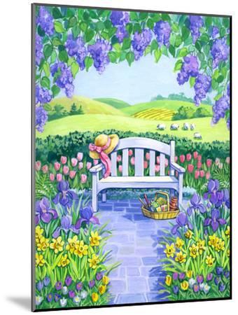 Garden Seat-Geraldine Aikman-Mounted Giclee Print