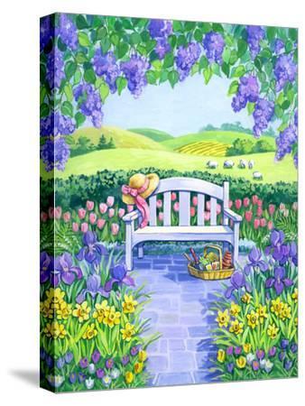 Garden Seat-Geraldine Aikman-Stretched Canvas Print