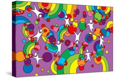 Pop Art Playground-Howie Green-Stretched Canvas Print