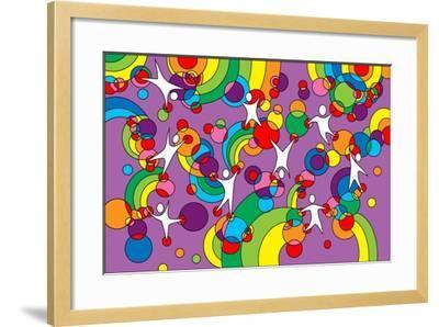 Pop Art Playground-Howie Green-Framed Giclee Print
