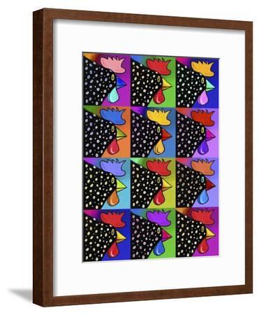 Pop Art Rooster-Howie Green-Framed Giclee Print