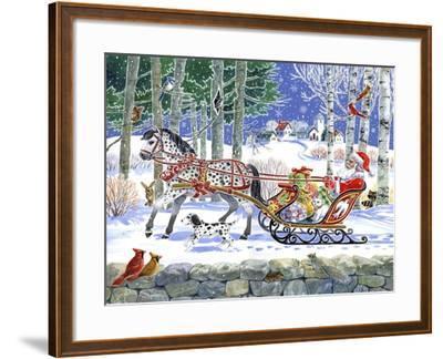 Santa's Sleigh Ride-Geraldine Aikman-Framed Giclee Print