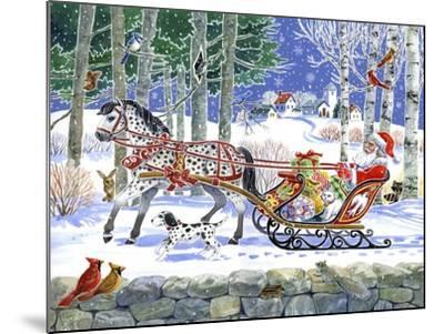 Santa's Sleigh Ride-Geraldine Aikman-Mounted Giclee Print