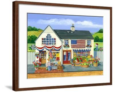 4th of July Market-Geraldine Aikman-Framed Giclee Print
