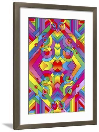 Pop Art Deco Panel 715-Howie Green-Framed Giclee Print