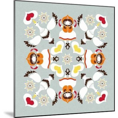 Ducks Pillow-Gaia Marfurt-Mounted Giclee Print