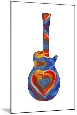 Pop Art Guitar Heart Brush-Howie Green-Mounted Giclee Print