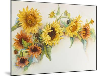 Arch of Sunflowers-Joanne Porter-Mounted Giclee Print
