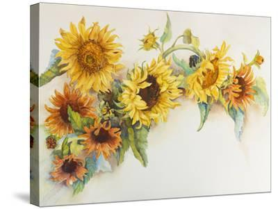 Arch of Sunflowers-Joanne Porter-Stretched Canvas Print