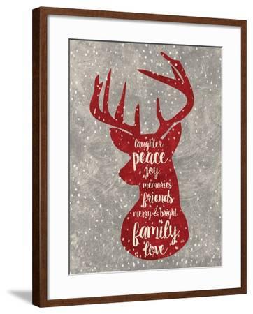 Xmas Deer-Erin Clark-Framed Giclee Print