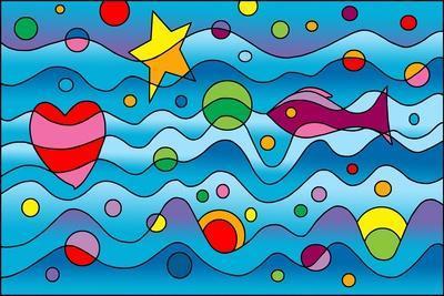 Underwater-Howie Green-Framed Giclee Print