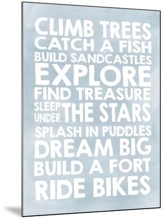 Climb Trees-Erin Clark-Mounted Giclee Print