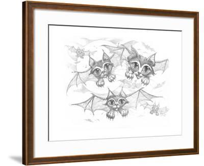 Bat Cats Pencil-Jeff Haynie-Framed Giclee Print