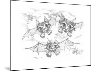 Bat Cats Pencil-Jeff Haynie-Mounted Giclee Print