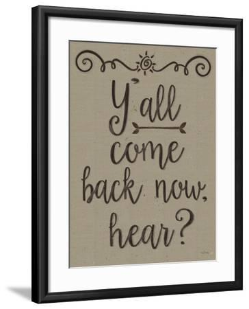 Yall Come Back Distressed Treatment-Leslie Wing-Framed Giclee Print