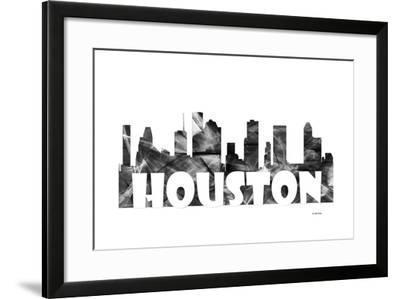 Houston Texas Skyline BG 2-Marlene Watson-Framed Giclee Print