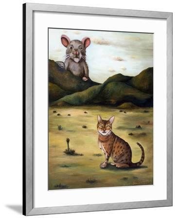 My Cat's Worst Nightmare-Leah Saulnier-Framed Giclee Print