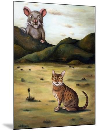 My Cat's Worst Nightmare-Leah Saulnier-Mounted Giclee Print