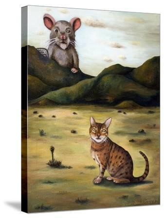 My Cat's Worst Nightmare-Leah Saulnier-Stretched Canvas Print