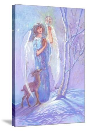 Guardian Angel of Winter-Judy Mastrangelo-Stretched Canvas Print