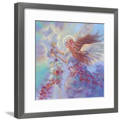 Angel with Flower Garland-Judy Mastrangelo-Framed Giclee Print