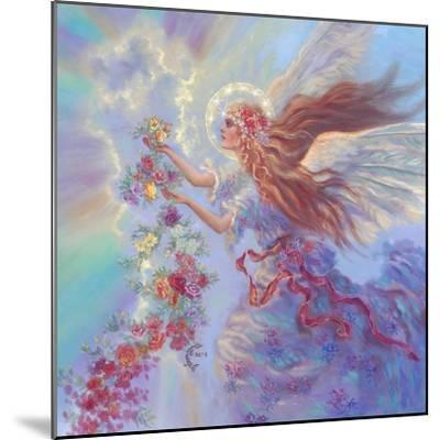Angel with Flower Garland-Judy Mastrangelo-Mounted Giclee Print