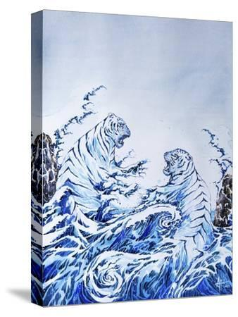The Crashing Waves-Marc Allante-Stretched Canvas Print