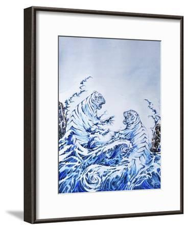 The Crashing Waves-Marc Allante-Framed Giclee Print