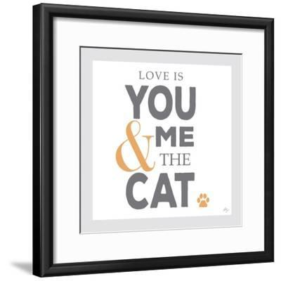 You Me and the Cat-Kimberly Glover-Framed Premium Giclee Print