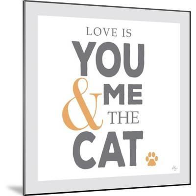 You Me and the Cat-Kimberly Glover-Mounted Premium Giclee Print