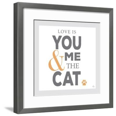 You Me and the Cat-Kimberly Glover-Framed Giclee Print
