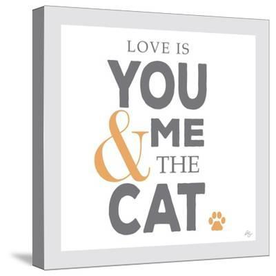 You Me and the Cat-Kimberly Glover-Stretched Canvas Print