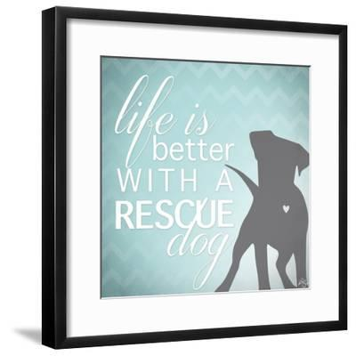 Better with a Rescue Dog-Kimberly Glover-Framed Giclee Print