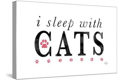 I Sleep with Cats-Kimberly Glover-Stretched Canvas Print