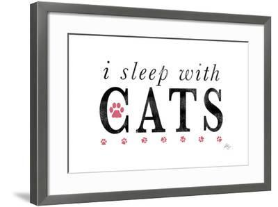 I Sleep with Cats-Kimberly Glover-Framed Giclee Print