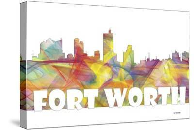 Fort Worth Texas Skyline Mclr 2-Marlene Watson-Stretched Canvas Print