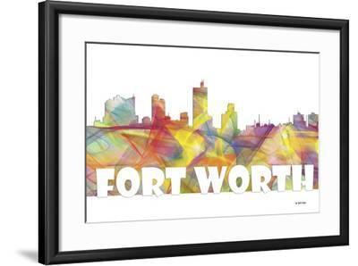 Fort Worth Texas Skyline Mclr 2-Marlene Watson-Framed Giclee Print