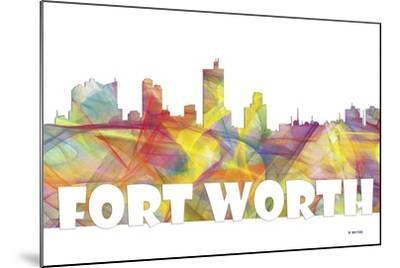 Fort Worth Texas Skyline Mclr 2-Marlene Watson-Mounted Giclee Print